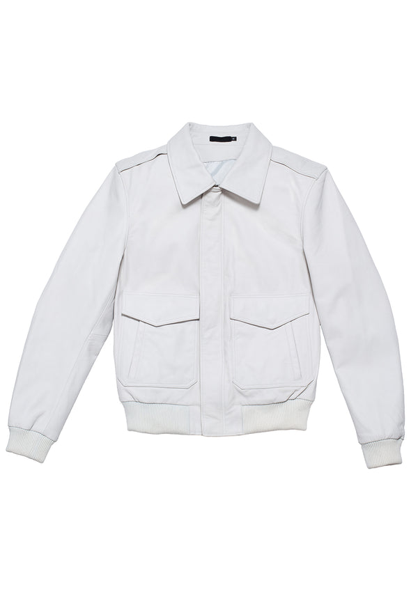 LEATHER JACKET 90 WHITE