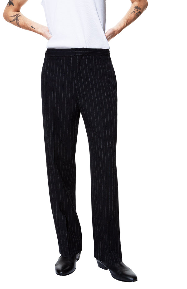 PANT 15 Pinestripe black