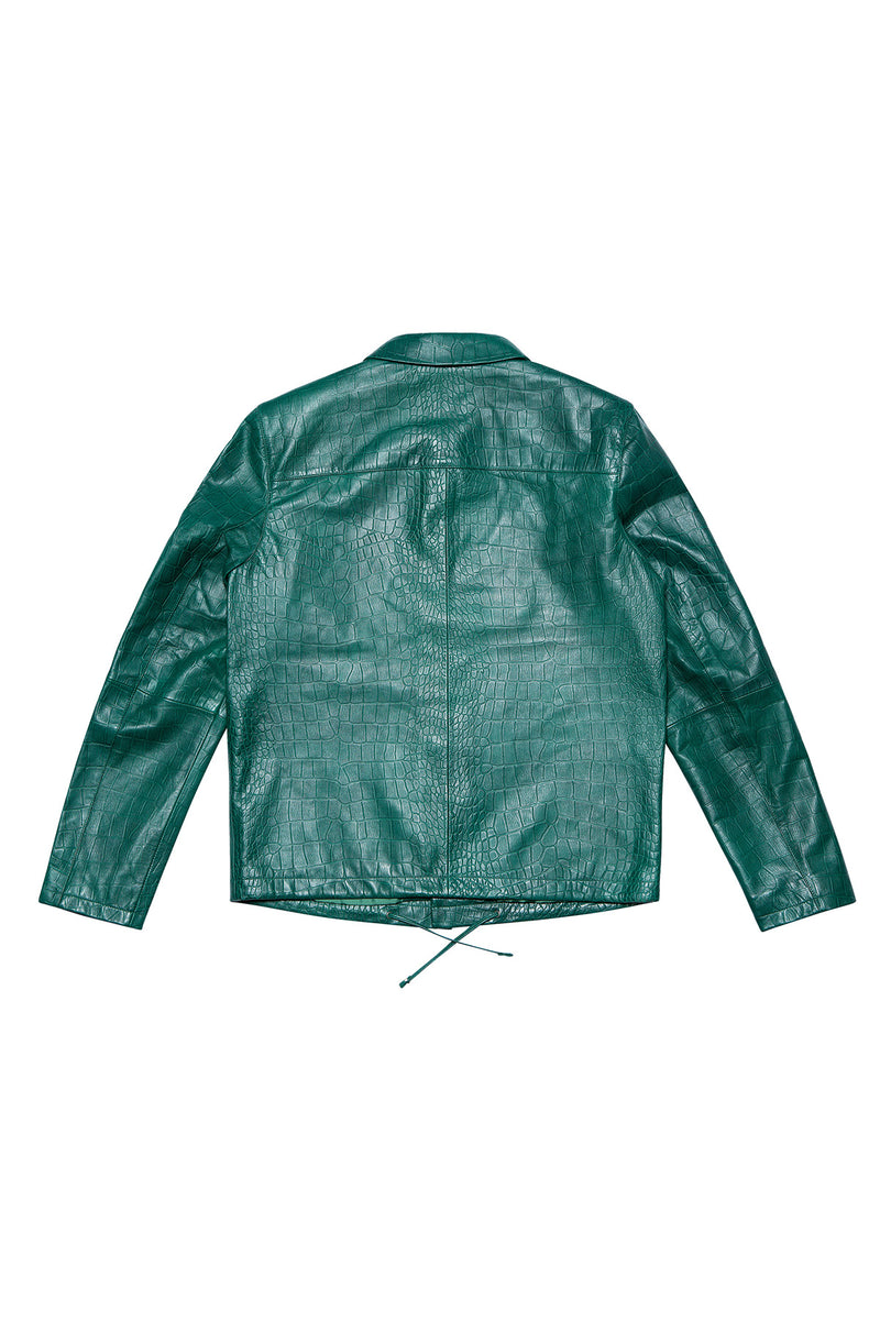 LEATHER JACKET 55 EMERALD GREEN