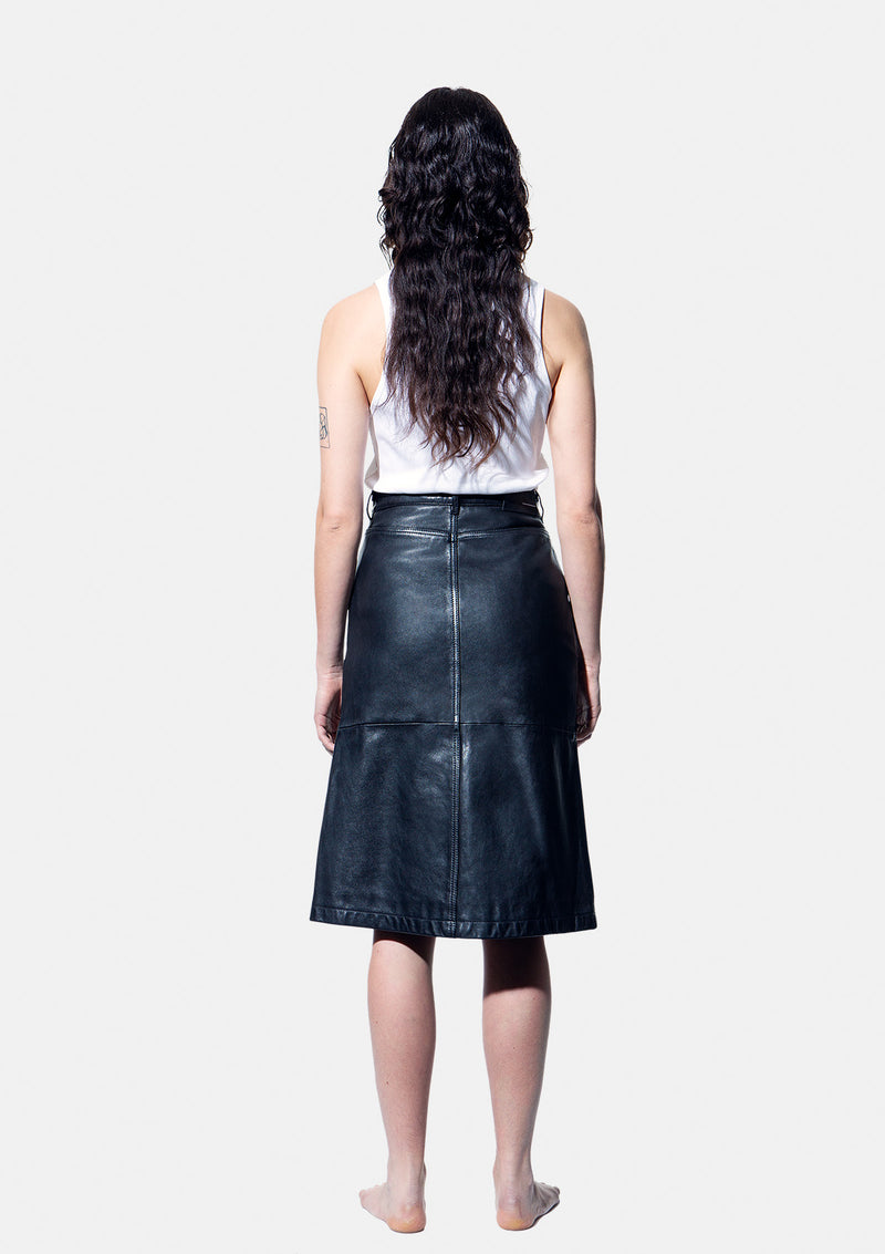 Leather skirt 18