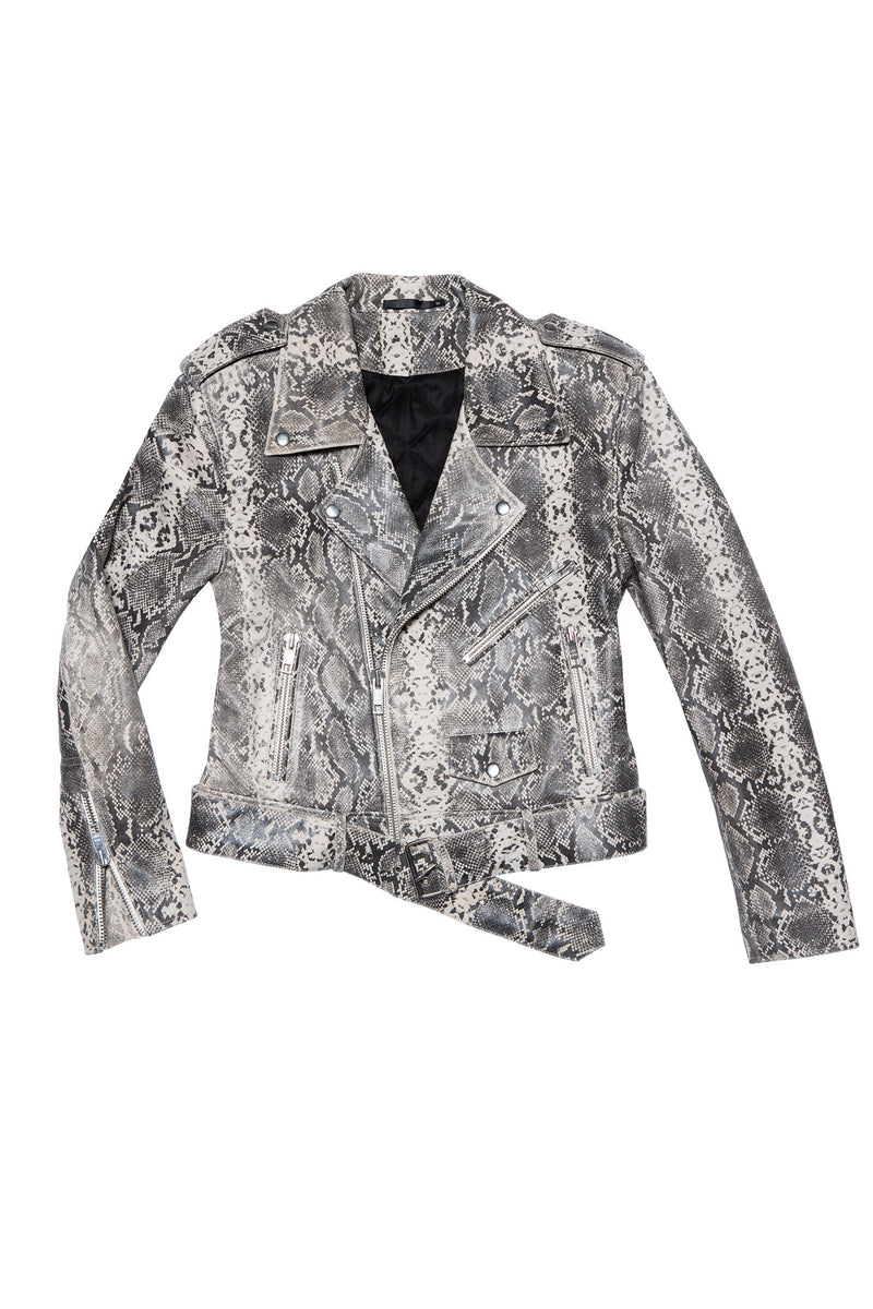 LEATHER JACKET 18 WHITE