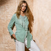 JERSEY AND SILK JACKET WITH FRINGE / GIACCA IN JERSEY E SETA CON FRANGIA