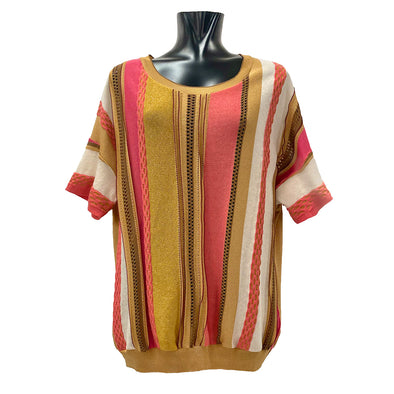 MULTICOLOR THREE-DIMENSIONAL KNITTED SHIRT / MAGLIA LAVORATA TRIDIMENSIONALE MULTICOLOR