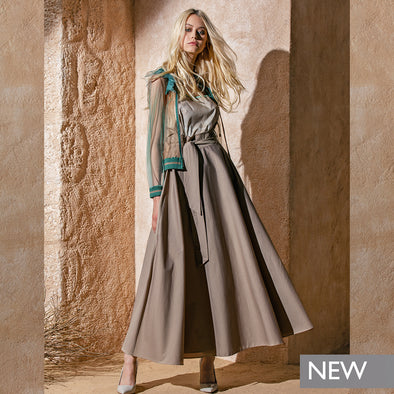 BOMBER IN TULLE LEATHER PRINT AND MATCHED TOP / BOMBER IN TULLE STAMPA PELLE RAZZA PIÚ TOP ABBINATO
