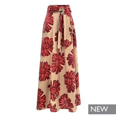 LONG SKIRT IN PRINTED COTTON / GONNA LUNGA IN COTONE STAMPATO