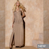 LONG DRESS IN PERFORATED KNIT AND STUDS / ABITO LUNGO IN MAGLIA TRAFORATA E BORCHIE