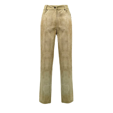 STRETCH COTTON TROUSERS WITH SKIN PRINT / PANTALONE IN COTONE STRETCH STAMPA PELLE RAZZA