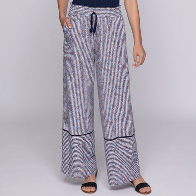 TROUSERS IN PRINTED COTTON / PANTALONE IN COTONE STAMPATO