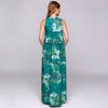 PRINTED COTTON FLOUNCED LONG DRESS / ABITO LUNGO A BALZE IN COTONE STAMPATO