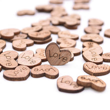 Load image into Gallery viewer, Mini Wooden Heart Table Scatter