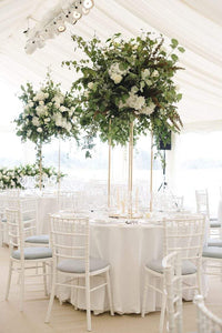 Gold Tall Rectangle Centerpiece