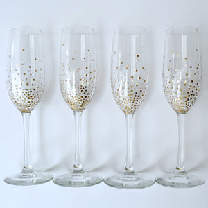 Handpainted Champagne Flutes