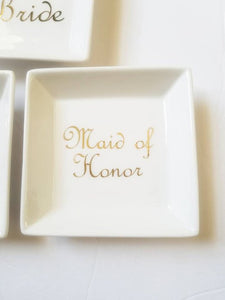Maid of Honor Bridesmaid Gift Jewelry Trinket Dish