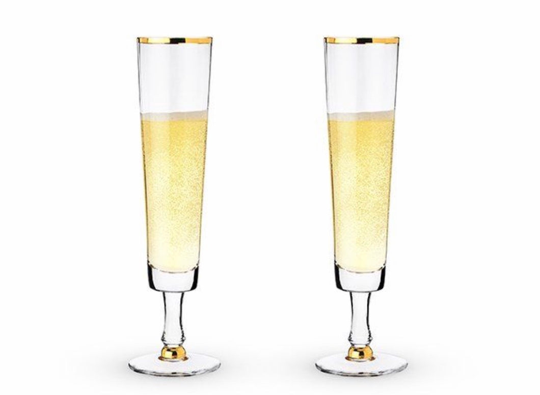 Wedding Champagne Flute Set of 2 by Twine
