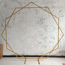 Load image into Gallery viewer, Gold Geometric Iron Wedding Arch Backdrop