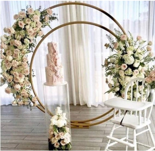 Double Circle Wedding Arch