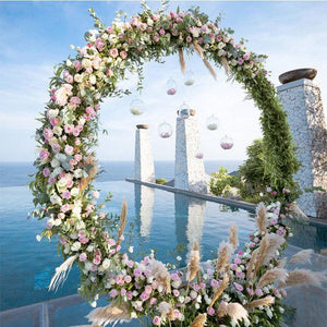 Double round wedding arch metal