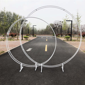 Outdoor Wedding Double Round Arch