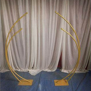 2 Piece Half Moon Wedding Arch Set