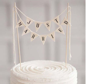 Just Married Wedding Cake Banner