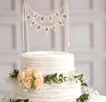 Load image into Gallery viewer, Just Married Wedding Cake Banner