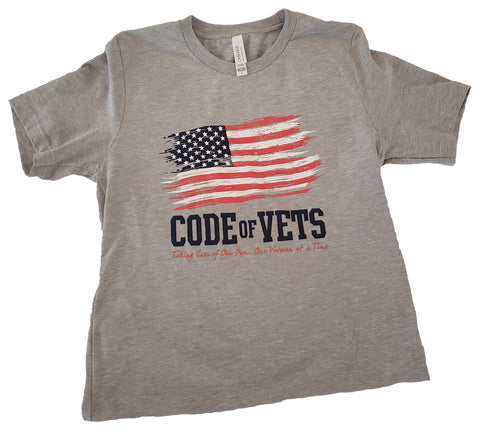 Code Of Vets Tshirt - Athletic Heather Gray
