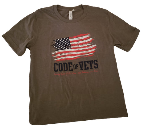Code Of Vets Tshirt - Military Green