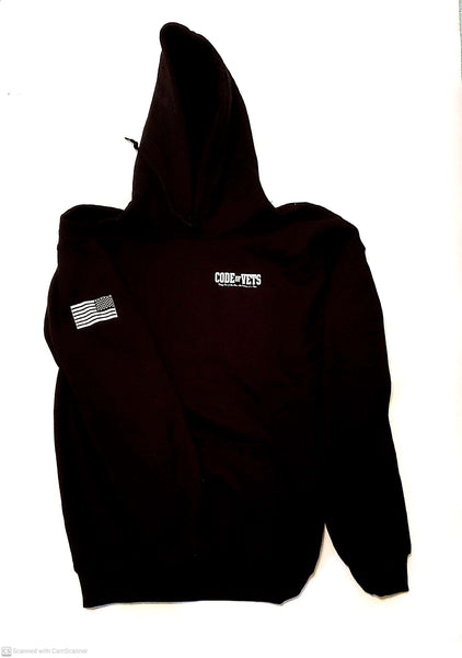 Code Of Vets Gildan Hooded Sweatshirt - black