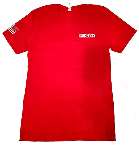 Code Of Vets Ultra Cotton Tshirt - red