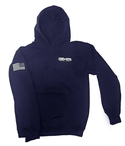 Code Of Vets Gildan Hooded Sweatshirt - navy