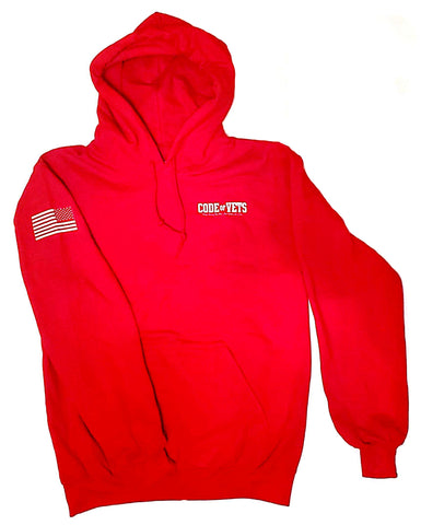 Code Of Vets Gildan Hooded Sweatshirt - red