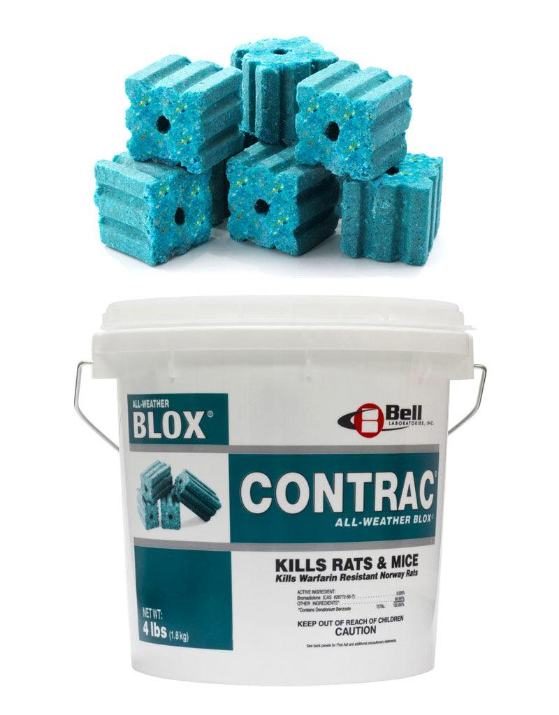 Insecticide - Contrac All-Weather Blox Rodenticide - Bromadiolone 0.005%