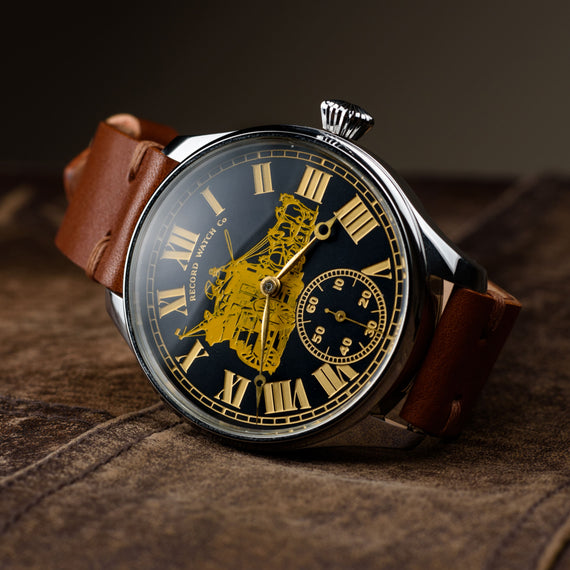 Mechanical watches Record Watch Co Swiss 1920s (movement) Dial color: black, gold