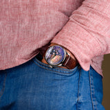 Mechanical watch USSR watch with artistic painting of the dial
