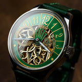 Green Rolex Skeleton mechanical watch Swiss early 20th century (movement)