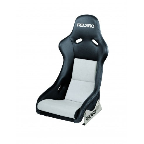 Recaro Pole Position with ABE - Ambla Leather Black / Dinamica Suede Silver Bucket Seat - Non FIA Approved 070.77.0889