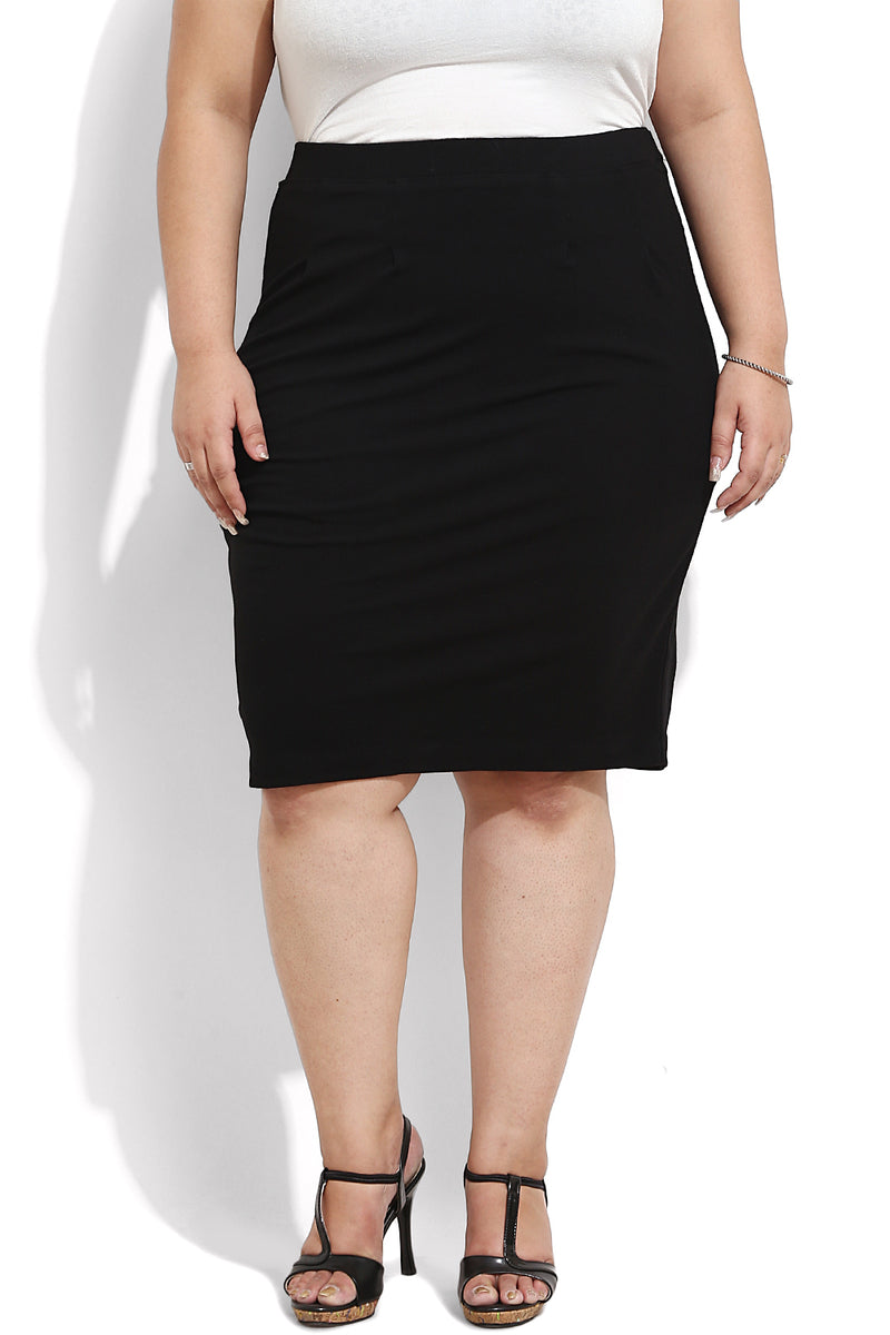 Black Formal Pencil Skirt