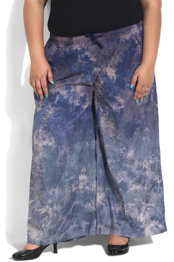Blue Stripe Tie Dye Lounge Trouser