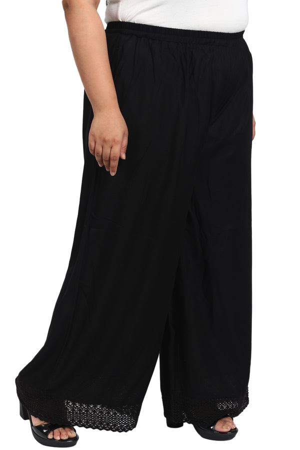Black Bottom Lace Palazzo Pants