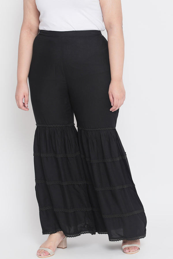 Black Sharara Pants