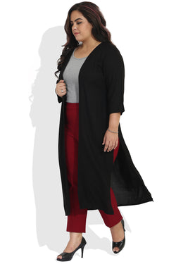 Black Basic Long Shrug