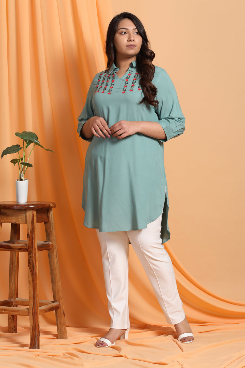 Menthe Embroidered Tunic