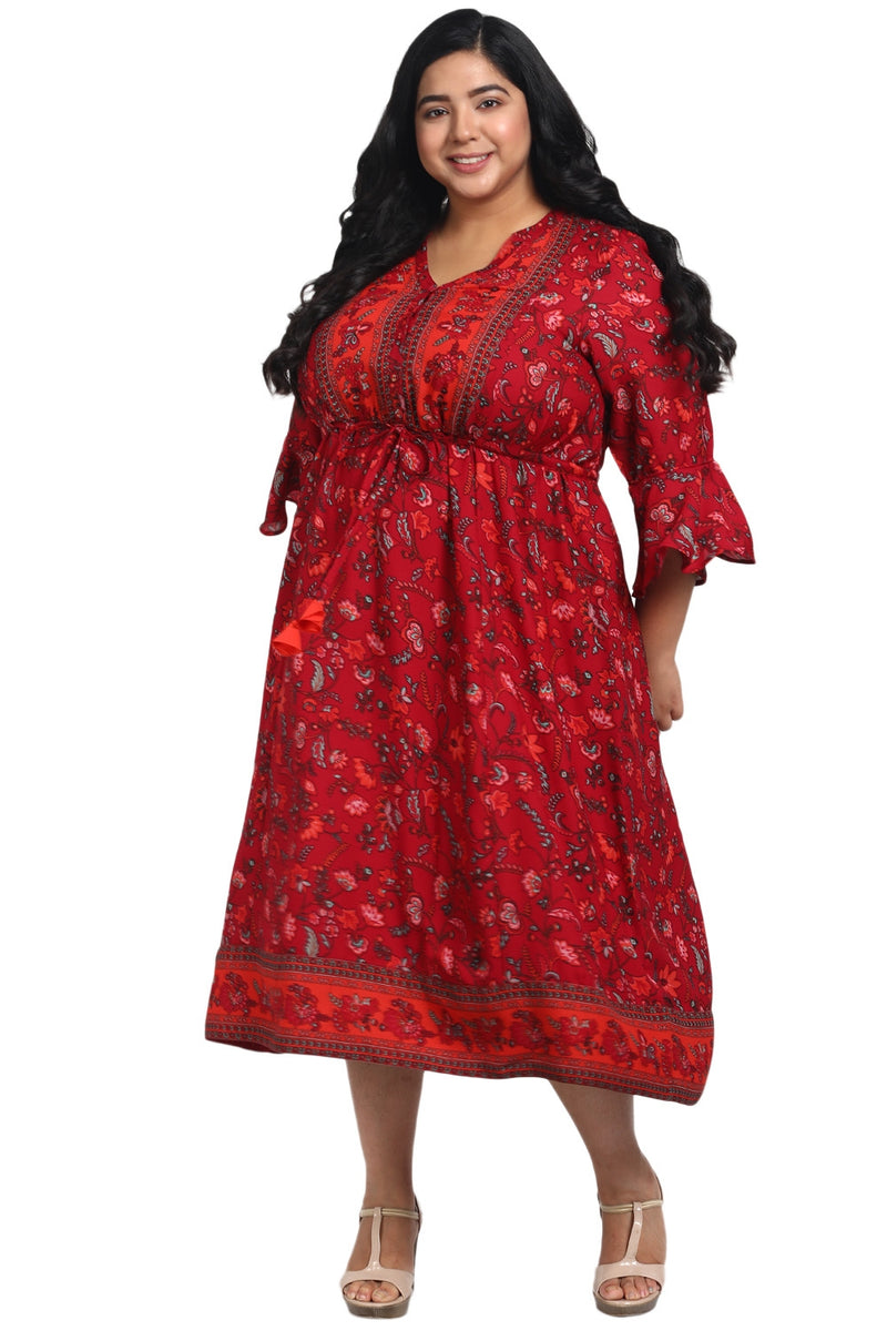 Persian Ethnic Printed Dress