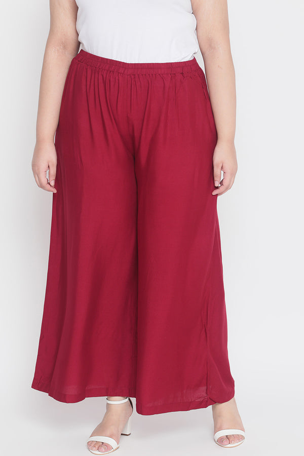 Chilly Red Palazzo Pants