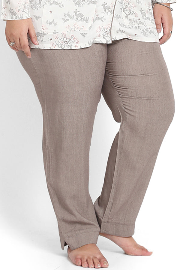 Taupe Solid Lounge Pants