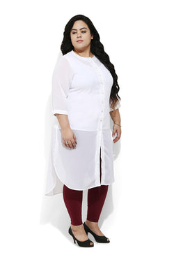 Sheer Opaque White Kurti