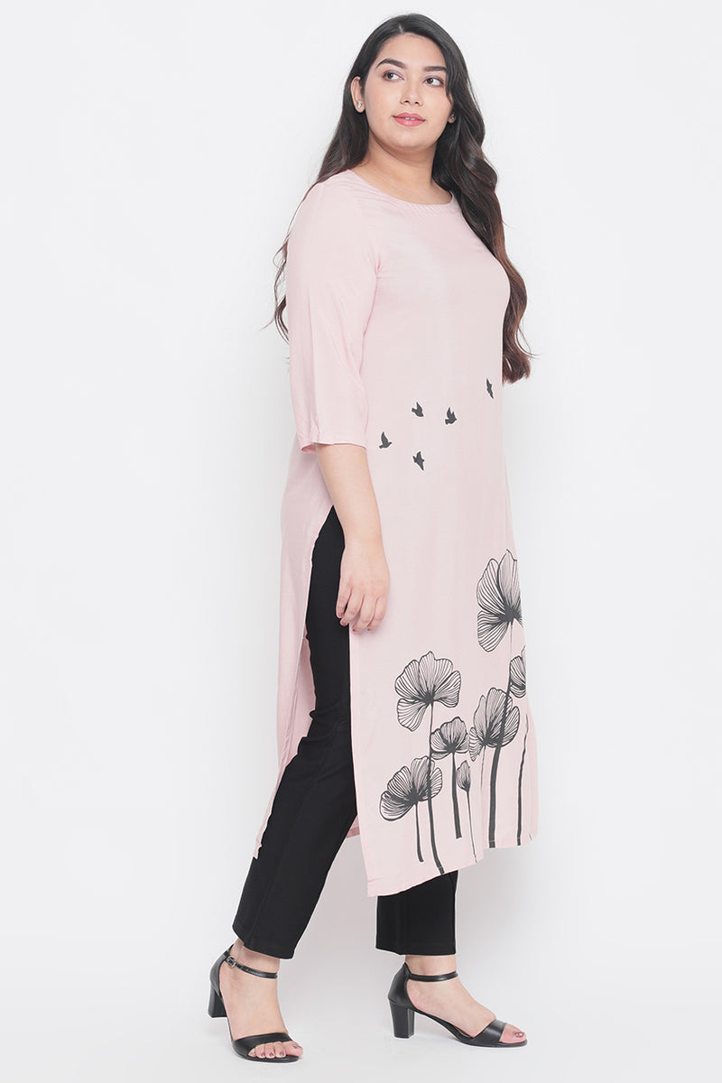 Rose Flowers Printed Kurti