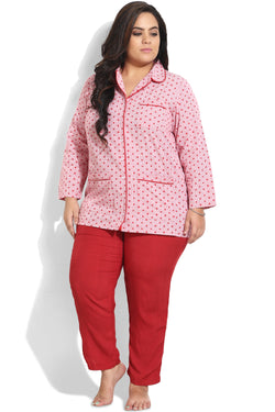 Red Star Night Suit with Pant