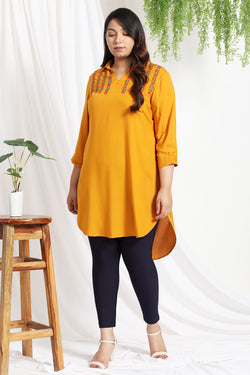 Mellow Yellow Embroidered Tunic