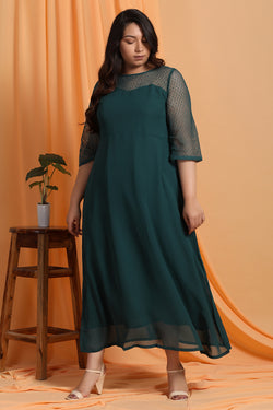 Emerald Green Sweetheart Neckline Gown